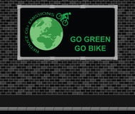 Bicycle advertising board Stock Image