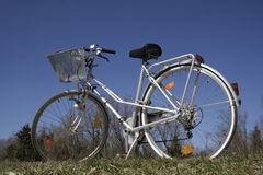 Bicycle  against blue sky Stock Image