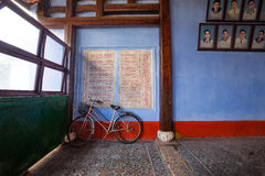 Bicycle against in Old City Hoi An, Vietnam Royalty Free Stock Photography