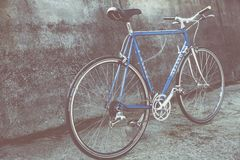 Bicycle against wall Royalty Free Stock Photo