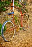 Bicycle ageless rusty royalty free stock photos