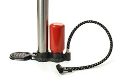 Bicycle air pump isolated on white background Stock Images