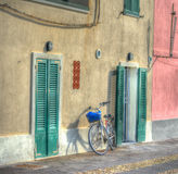 Bicycle in Alghero seafront Royalty Free Stock Photography