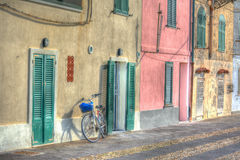 Bicycle in Alghero seafront Stock Image