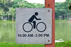 Bicycle allow sign Royalty Free Stock Image