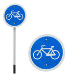Bicycle allowed sign Stock Image