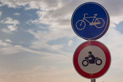 Bicycle allowed Sign Royalty Free Stock Image