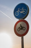 Bicycle allowed Sign Royalty Free Stock Photography