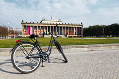 Bicycle in Altes Museum - Berlin Royalty Free Stock Image