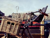 Bicycle in Amsterdam Stock Photography