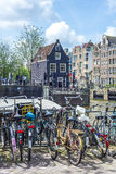 Bicycle in Amsterdam, Netherlands. Royalty Free Stock Images