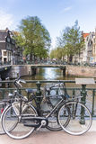 Bicycle in Amsterdam, Netherlands. Stock Photo