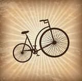 Bicycle. Antique bicycle over vintage background vector illustration vector illustration