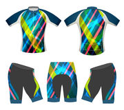 ฺBicycle apparel sports t-shirt vector Royalty Free Stock Images