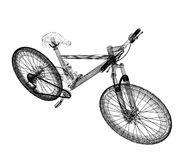 Bicycle as a 3d wire frame Royalty Free Stock Image