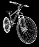 Bicycle as a 3d wire frame Royalty Free Stock Photo