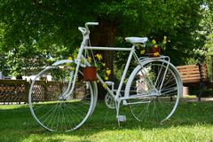 Bicycle as decorative with flower arrangements Stock Images