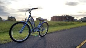 Free Bicycle At Rest Propped On Kickstand Stock Photography - 174340012