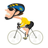 Bicycle Athlete. Caricature illustration of a bicycle athlete royalty free illustration