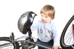 Bicycle and baby Royalty Free Stock Image