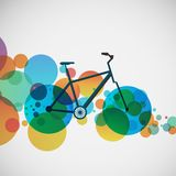 Bicycle on a background of bright beads Stock Image
