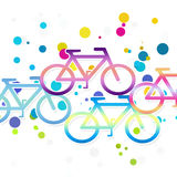 Bicycle. Background with composition geometry bicycle vector illustration