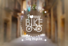 Bicycle background Royalty Free Stock Image