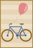 Bicycle and balloon Stock Photography