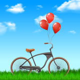 Bicycle With Balloons Royalty Free Stock Photo
