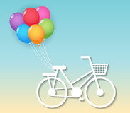 Bicycle with balloons Royalty Free Stock Photos
