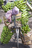 Bicycle with bananas in Africa Royalty Free Stock Photos