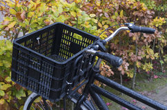 Bicycle with basket Stock Photo