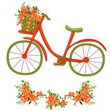 Bicycle with a basket Stock Photography