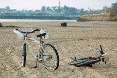 Bicycle on the beach Stock Image