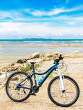Bicycle at beach Royalty Free Stock Photography
