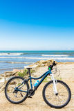Bicycle at beach Royalty Free Stock Photo