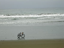 Bicycle on the Beach, Ecuador Stock Photography