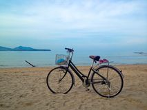 Bicycle on the beach Royalty Free Stock Photography