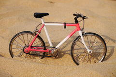 Bicycle on beach Royalty Free Stock Photography