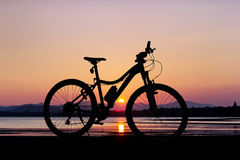 Bicycle at the beach Stock Images