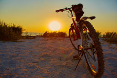 Bicycle at the beach Stock Photo