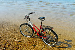 Bicycle on the beach. Stock Images