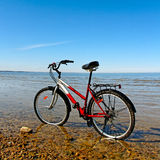 Bicycle on the beach. Stock Photo