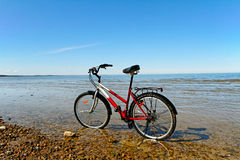 Bicycle on the beach. Royalty Free Stock Image