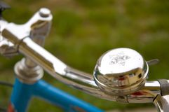 Bicycle bell. Shallow depth of field Stock Photography
