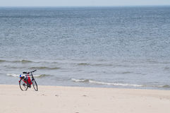 Bicycle, bike on a beach Royalty Free Stock Photo