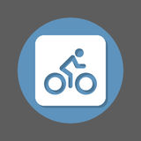 Bicycle. Bike, Cycling flat icon. Round colorful button, circular vector sign with shadow effect. Flat style design. Stock Photo