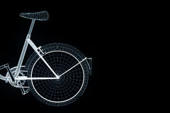Bicycle Bike in Hologram Wireframe Style. Nice 3D Rendering Royalty Free Stock Images