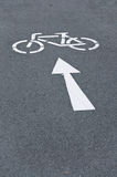 Bicycle Bike lane arrow symbol Stock Images