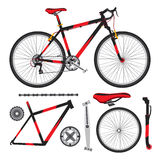 Bicycle, bike parts, accessories, details, ecological vehicle in Stock Images